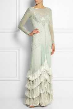 Temperley London|Silvia embellished silk-georgette gown|NET-A-PORTER.COM