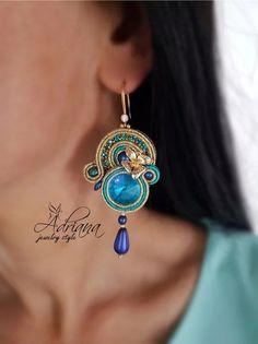 Soutache small earrings by AdrianaJewrlryStyle