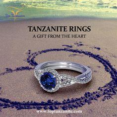 Tanzanite Ring, Engagement Jewelry, Diamonds, Anniversary, Stones, Gifts, Wedding, Beautiful, Valentines Day Weddings