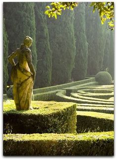 ⍋Green Gardens⍋ zen, formal, topiary & landscape parks & gardens - Northern Italy, By FotoAmore Dream Garden, Garden Art, Garden Design, Big Garden, Garden Painting, Formal Gardens, Outdoor Gardens, Parks, Italian Garden
