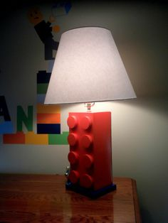 lego rooms for boys | Evan actually had the idea to put some lego vinyls on his chair!