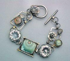 Fanciful Ocean Jasper Flower Bracelet von Temi auf Etsy, $260.00
