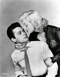 """: Jan Sterling & Tony Curtis in """" Flesh And Fury """""""