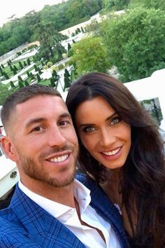 Spain and Real Madrid captain, Sergio Ramos, is now engaged to long-term girlfriend and mother of his three children, Pilar Rubio, Ramos jetted 3 Kids, Three Kids, Sergio Ramos Wife, Football Wags, Real Madrid Captain, Ramos Real Madrid, Captain Fantastic, Real Madrid Players, Trending Songs
