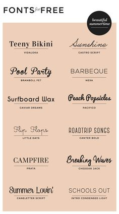 While working on a recent branding project for a wedding photographer, I put together a list of really pretty font combinations for her to choose from for her business card design. I'm still … for summer! We love the variety of styles this pin provides. Inspiration Typographie, Typography Inspiration, Graphic Design Inspiration, Font Design, Web Design, Vector Design, Blog Design, Flyer Design, Design Ideas