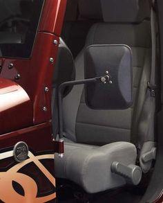 Olympic 4X4 Products Safari Mirrors for 76-12 Jeep® CJ-5, CJ-7 & CJ-8 Scrambler, Wrangler YJ, TJ, JK & Unlimited