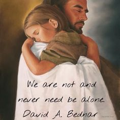 Never Alone. The Lord is always with us. I hope we all remember that always with or without hard times. :D