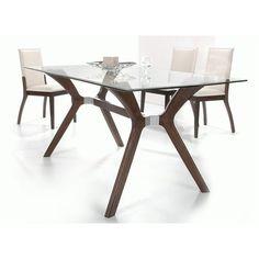 Chintaly Imports Luisa 5 Piece 60x36 Rectangular Dining Table Set