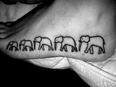 Walk like a herd of Elephants tattoo. I really like this! I've Been told I walk like a herd of elephants.