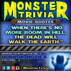 Its time for another #Monster #Trivia! Can you name the #movie this quote is from?  #Winner gets a #free pair of #Tickets!  Heres how to win:  1.) LIKE & SHARE this post 2.) Comment with the correct answer & TAG the person that youd bring if you won. You need to do these 2 things to be eligible. One winner will be randomly selected tomorrow.  This contest is in no way sponsored endorsed or administered by or associated with Facebook #hauntedelementary #hauntedhouse #contest