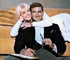 """Doris Day and Rod Taylor in """"The Glass Bottom Boat"""""""