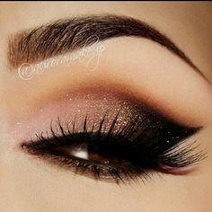 Soft dark eye makeup