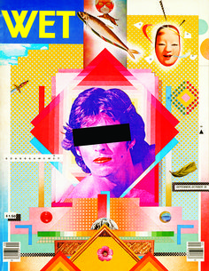 April Greiman and Jayme Odgers's design for the cover of Wet magazine, Sept/Oct 1979, featuring a young Ricky Martin