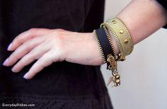 DIY zipper bracelet craft