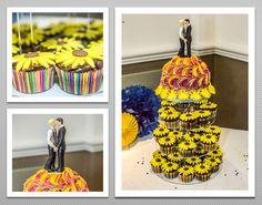 Sunflower themed Wedding cake.