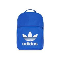 Trefoil Backpack by Adidas Originals ($28) ❤ liked on Polyvore featuring bags, backpacks, blue, day pack backpack, blue bag, blue backpack, adidas and backpack bags