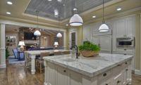 White kitchen, marble countertop, ceiling detail, Details a Design Firm, http://detailsadesignfirm.com/index.php/portfolio/63.html