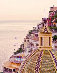Positano - see the pool below the dome - that is where we stayed.