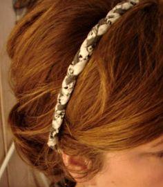 Se você resolver vender esta tiara em tecido seus lucros serão bem altos, já que ela é linda e mulheres não resistem a acessórios interessantes (Foto: whimsicalworldoflaurabird.blogspot.com.br)