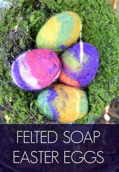Felted Soap Easter Eggs treats for teens Felted Soap Easter Eggs Felted Soap, Felting, Diy Osterschmuck, Diy Gifts For Mothers, Easy Crafts To Sell, Diy Easter Decorations, Mother's Day Diy, Craft Stick Crafts, Diy Crafts