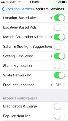 stop tracking on iphone 5
