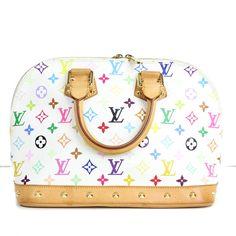 Louis Vuitton White Monogram Multicolor Alma Bag