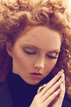 "Lily Cole in ""Blood and Incense"" Photographed By Koray Birand & Styled By Isabel Dupre For Harper's Bazaar Turkey, October 2011 Lily Cole, High Fashion Makeup, Portraits, Beautiful Redhead, Harpers Bazaar, Belle Photo, Freckles, Redheads, Red Hair"