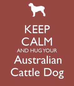 Keep Calm and Hug Your Australian Cattle Dog