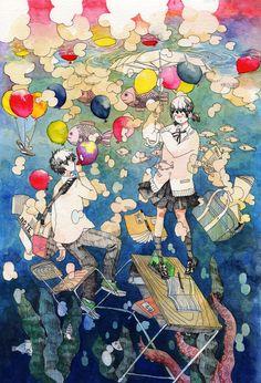 水面と水没 — by 青空教室 (Aozora Kyoshitsu)