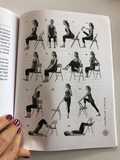 Yoga Props, Chair Yoga, Pilates, Chair, Chair Yoga Poses, Pop Pilates