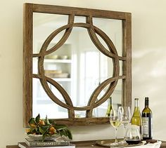 Small Teagan Circle Link Mirror #potterybarn. I could make these circles with embroidery hoops!