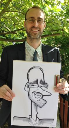 Wedding caricaturist at Rothley Court, Leicester