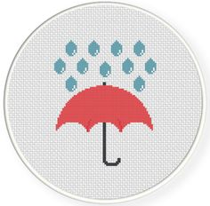 FREE for Sept 27th 2014 Only - Umbrella Cross Stitch Pattern