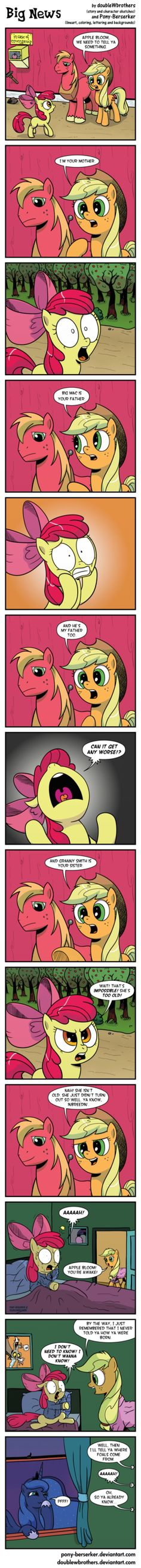 Big News by *Pony-Berserker on deviantART Dat's not right!! Oh Luna, you trickster...