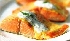 Debbie Macomber's Cedar Cove - Recipes - Roasted Salmon with Creamy Dill Sauce   Hallmark Channel