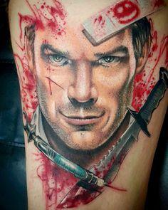 My Dexter tattoo. Artist - Van Ruben Melbourne Australia