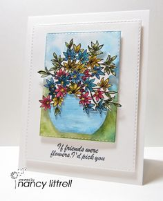 Awesomely Artistic Bouquet by nancy littrell - Cards and Paper Crafts at Splitcoaststampers