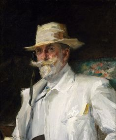 'William Merritt Chase', c. 1910 -  Annie Traquair Lang (1885-1918)