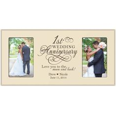 1st Wedding Anniversary Photo Frame By Dayspringmilestones On Etsy Pictures Gifts For