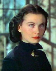 Vivien Leigh as the newly widowed Scarlett O'Hara Hamilton in 'Gone With The Wind'. Her mother sees her crying because she has to wear black and offers to send her to Atlanta to cheer her up. She knows Ashley will be coming there to see Melanie.
