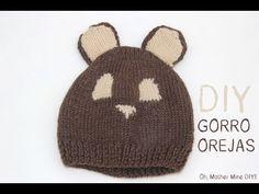 ▶ DIY Cómo hacer gorro de lana con orejas para bebe 01 - YouTube