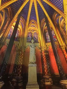 Entering La Sainte-Chapelle (The Holy Chapel) is like stepping into a glass jewel box studded with brilliantly colored gems.