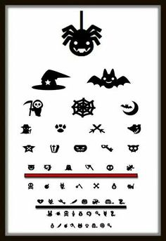 Halloween Eye Chart