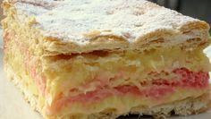 vyborny zakusok podobny puncovemu rezu-a trocha kremesu Italian Cookies, Italian Desserts, Chef Recipes, Cooking Recipes, Delicious Desserts, Dessert Recipes, Eclairs, Vanilla Cake, Nutella