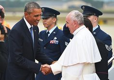 Pope Francis Arrives in the U.S., Greeted by President Barack Obama - Us Weekly
