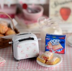Miniature Breakfast Toaster Tart Set by CuteinMiniature on Etsy