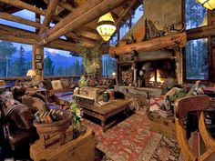 Breathtaking wooden retreat in the mountains