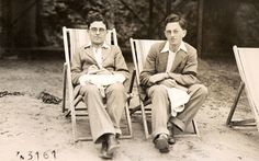 """Cambridge mathematician Jack Good (right) seen here in 1935 with his brother Arthur (also a mathematician) joined Bletchley Park in 1941. Initially, he worked in Hut 8 alongside Turing but later moved to the """"Newmanry"""" to work on machine methods for decrypting a german cipher system known as """"Fish""""."""