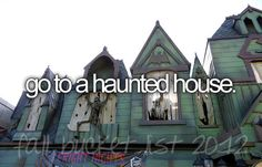 I have to do it once because it would be hysterical. #hauntedhouse