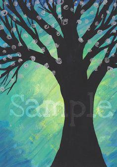 Starry Night by AmandaHilburnART on Etsy, $30.00  9x12 acrylic on heavy paper